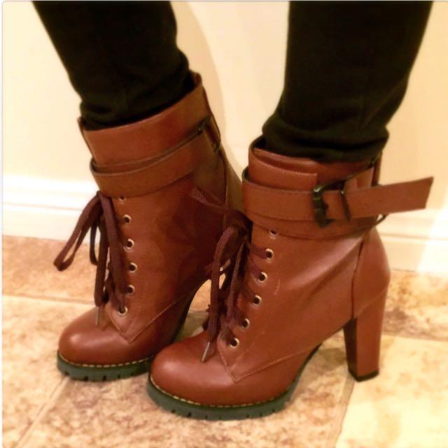 Brown Boot Heels Size 37