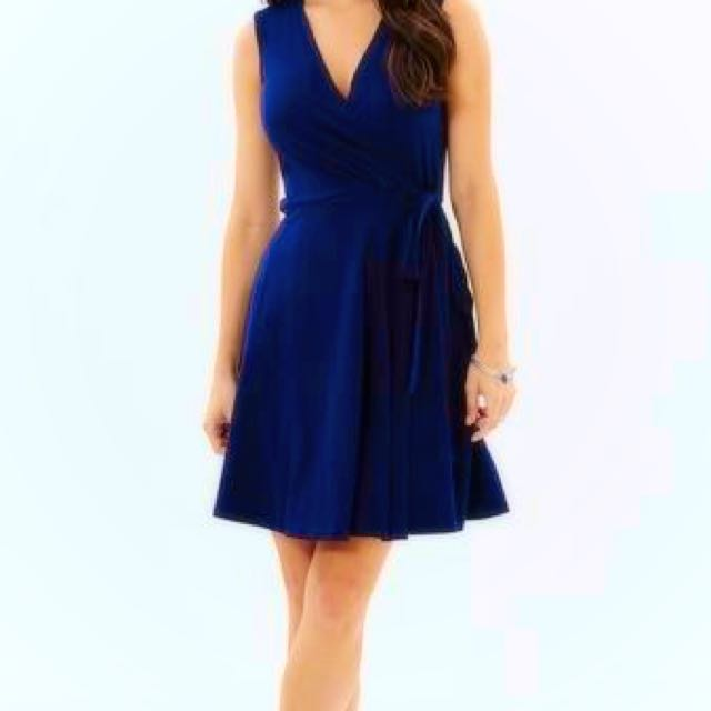 Dorothy Perkins Navy Wrap Dress