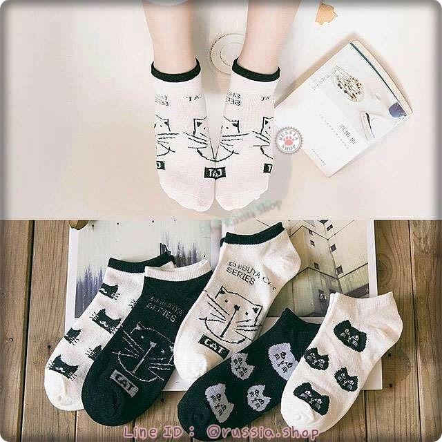 【預購品】LAM164261 貓咪純棉踝襪 www.facebook.com/Russia.BC