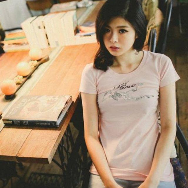 200含運 Lazybone 經典款T恤(粉色/M) babypink