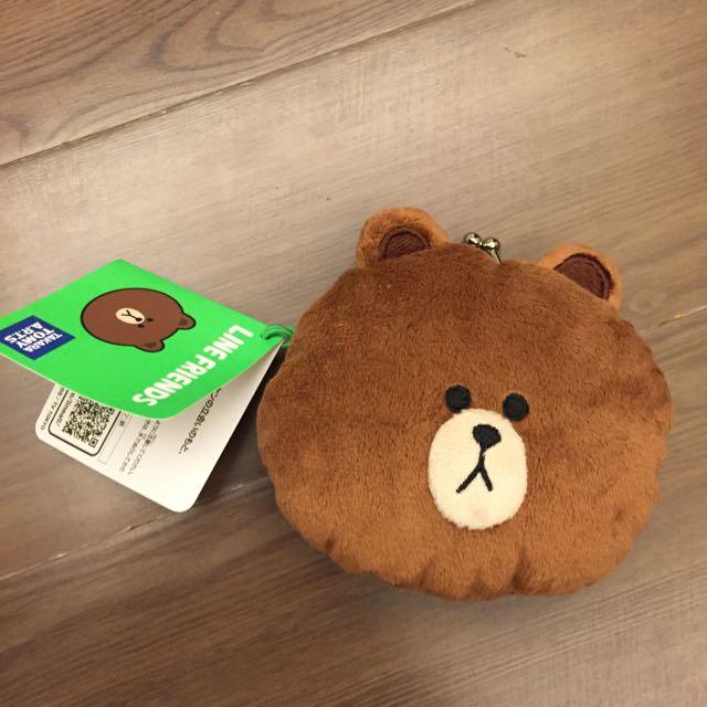 Line Friend熊大珠扣零錢包