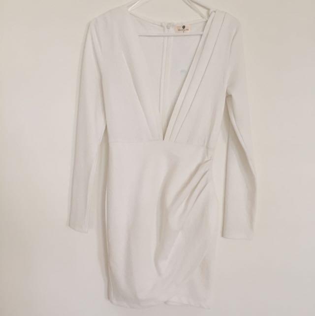 Morning Mist White Dress (size 8)