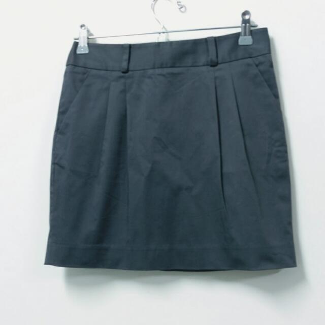 全新net灰色上班西裝短裙4