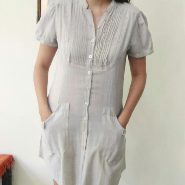 Preloved Zara TRF Grey Long Shirt