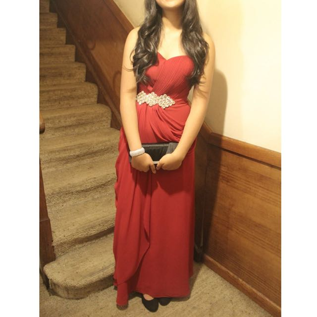 Red Formal Dress (Negotiable)