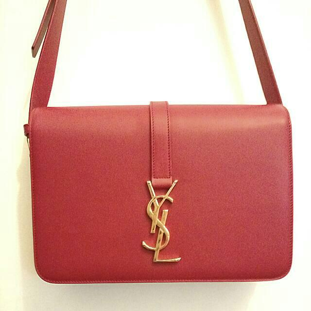 48da8f845aa Sale! Saint Laurent YSL Monogramme Universitie Shoulder Bag Red Medium  Preloved, Luxury on Carousell