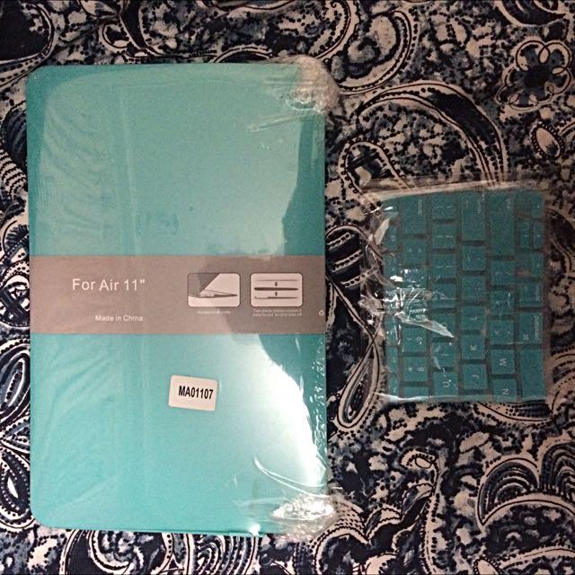 Tiffany Blue Silicon/hardback MacBook Air Case