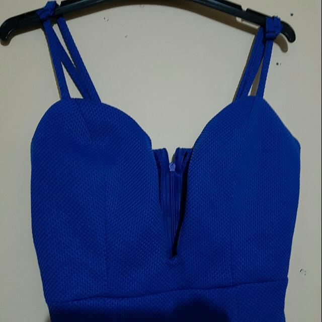 Tight Blue Long Dress