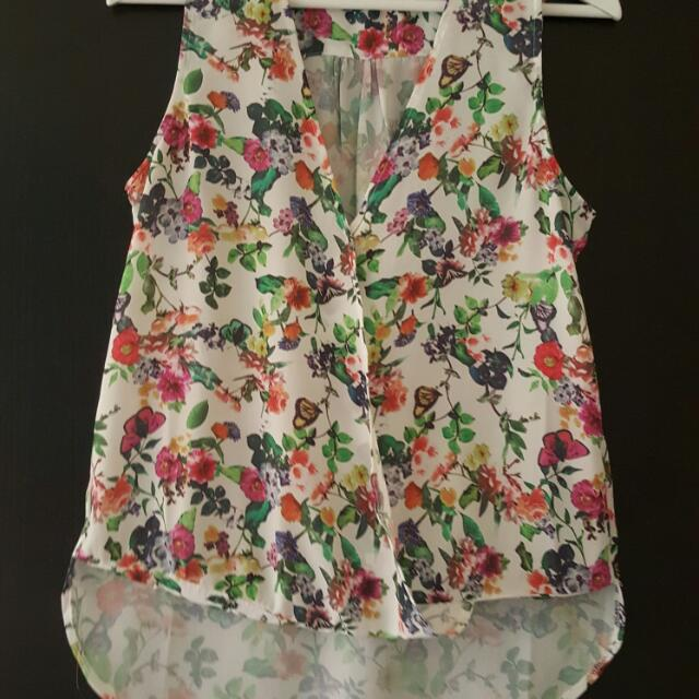 Vallygirl Sleeveless Foral Shirt SIZE 8