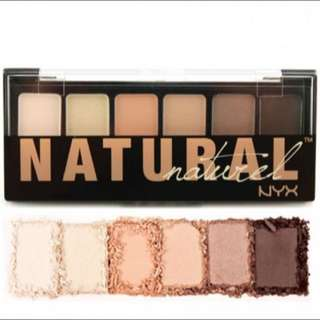 new NYX natural shadow palette