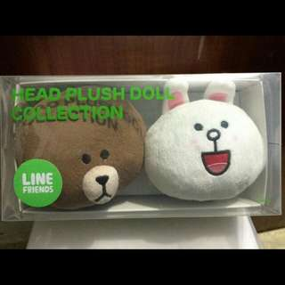 Boneka Line Brown   cony head ORI 2aee1f85e8
