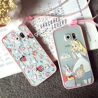 《預購》【附掛繩】愛麗絲 浮雕三星 note3 手機殼 卡通 note4 保護套 全包 外殼 S5 保護殼 粉