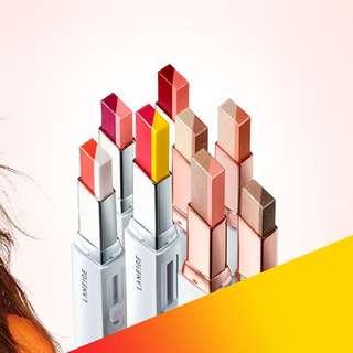 韓國代購 LANEIGE 蘭芝 超放電絲絨雙色唇膏 預購中