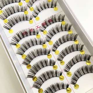 10 Pairs Handmade Natural False Eyelashes/falsies #226