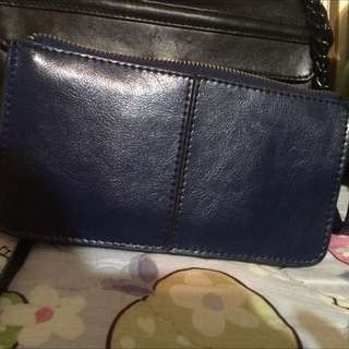 深藍萬用包 出國護照包 隔層包 包中包