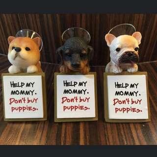 名犬來吸 擺飾架 法鬥 臘腸 手做 領養代替購買