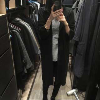 日本購入 FIG&VIPER 黑色長版衫 毛衣外套 轉