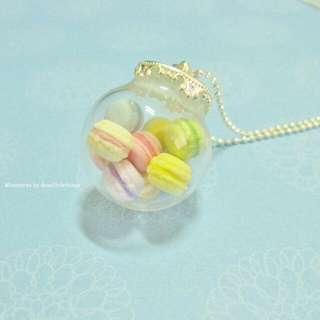 Macarons Glass Globe Necklace Large