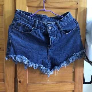 前短後長短褲
