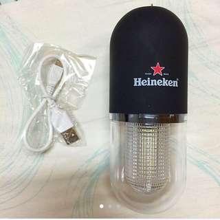 海尼根城市 發光膠囊 手電筒 照明燈