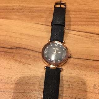 Follie Follie玫瑰金色時尚手錶