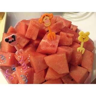 超QQ卡通創意米奇米妮維尼熊唐老鴨黛西 水果叉 甜品點心叉