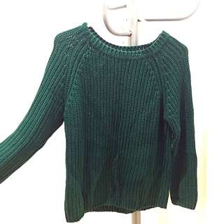 Glassons Green Jumper Size 8-10