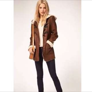 ASOS Winter Coat With Faux Shearling Size AU 6