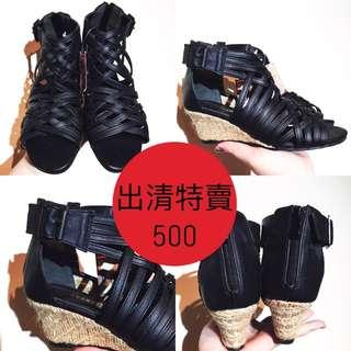 日本帶回 羅馬涼鞋 楔型跟鞋(原訂價2280清倉特價500)