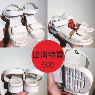 日本帶回 白色寬帶涼鞋 厚底涼鞋(原訂價1680清倉特價500)