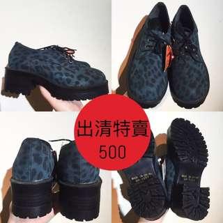 日本帶回 豹紋厚底鞋(原訂價2980清倉特價500)
