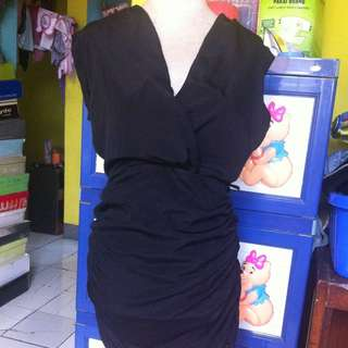 Midi Dress Black Size M (IDR 50rb)