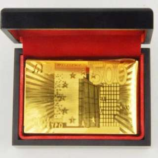 IN STOCK : EURO 500 Image , 24K Gold-Foil Plated Playing Cards