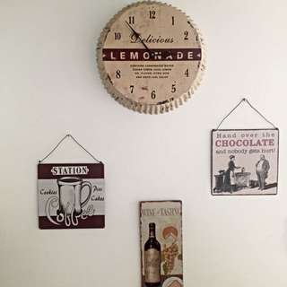 Metal Wall Clock And Hangings