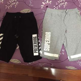 黑色 灰色 棉短褲 兩條400!