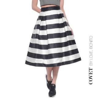 a23f8879c1 Love Bonito Covet Sevana Striped Midi Skirt - Colour : Black, Size : S