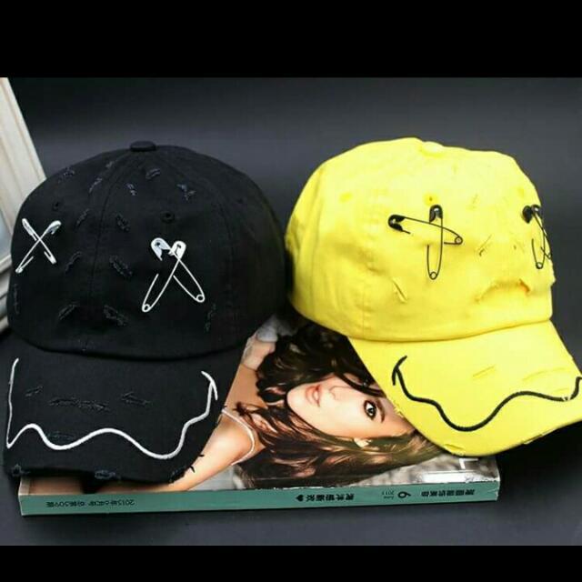 韓星同款別針帽