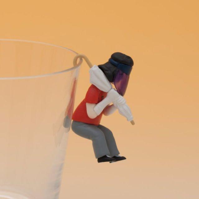 《大阪の歐巴桑》杯緣子 - 「躲避紫外線之女」款
