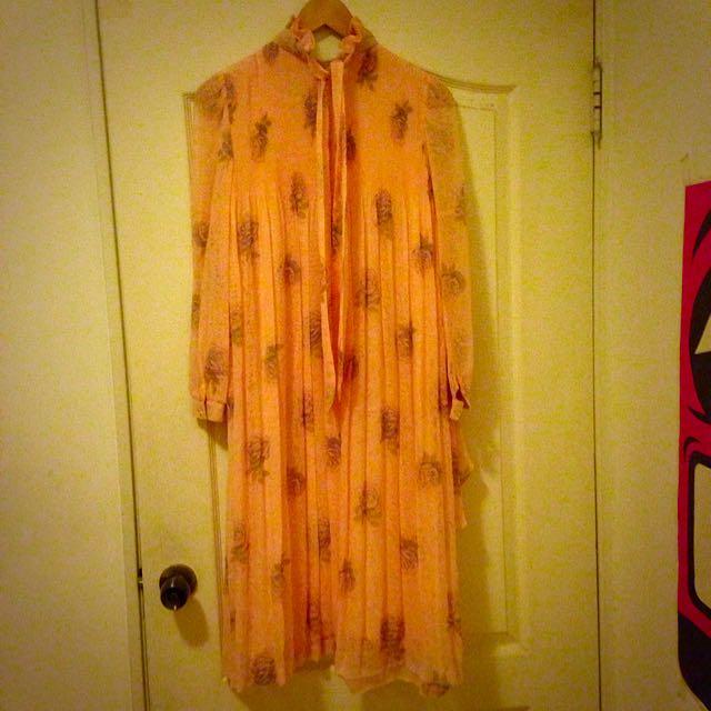 (保留中)紫薔薇花園古著洋裝