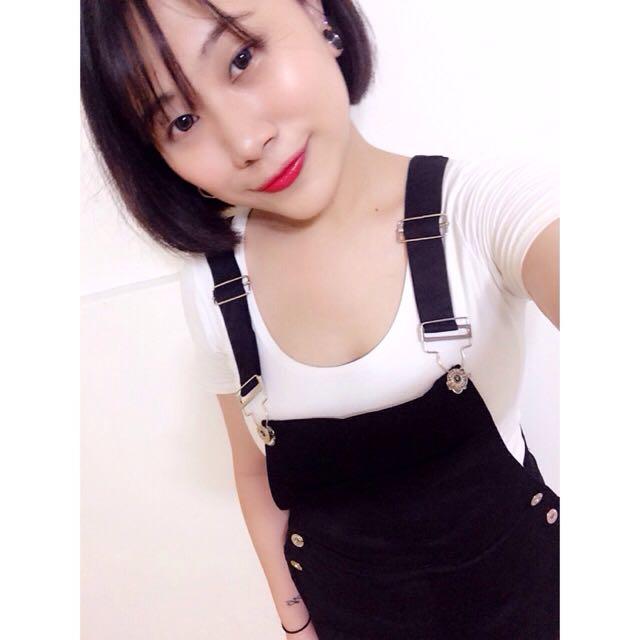 全新✨黑色吊帶裙