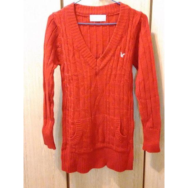 American Eagle AmericanEagle AE 紅色針織衫