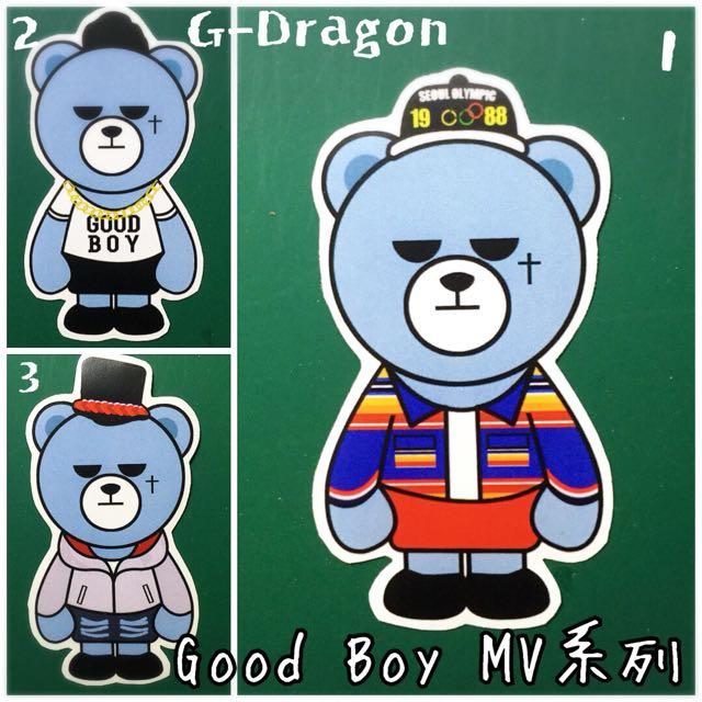 BIGBANG 防水貼紙(krunk Bear系列)