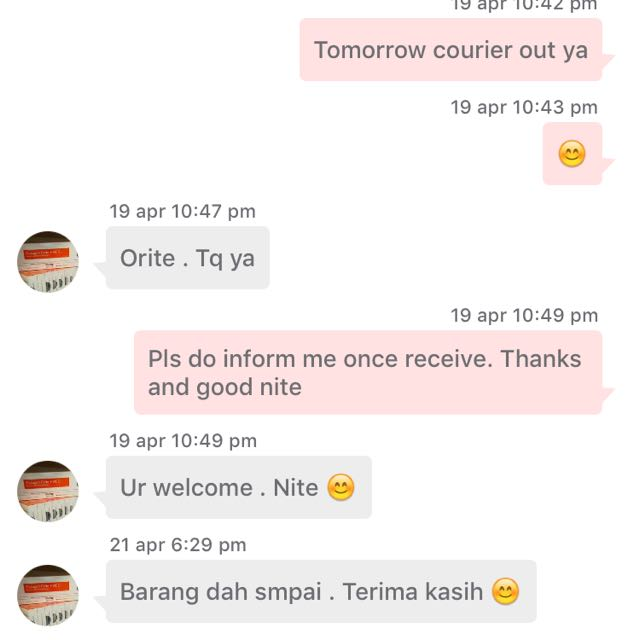 Buyer Received Her Item 😊