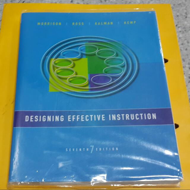 Designing Effective Instruction ID課本 教學設計
