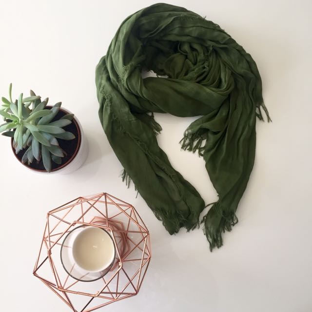 Earthy Green Scarf