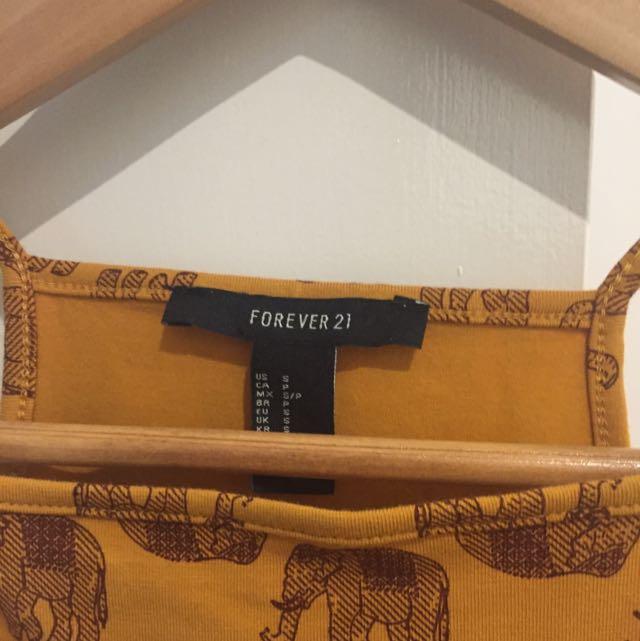 Forever New Elephant Halter Crop