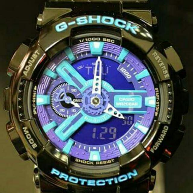 G-SHOCK GA-110HC-1A 黑藍紫