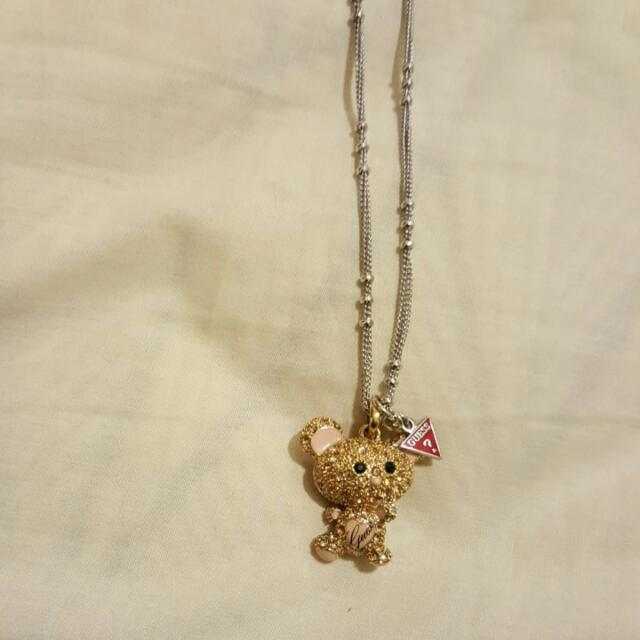 Guess Gold And Silver Pendant