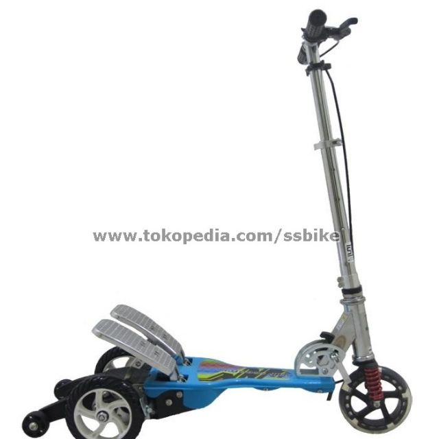 Happy Scooter Dua Pedal Skuter / Otoped Twin Tail