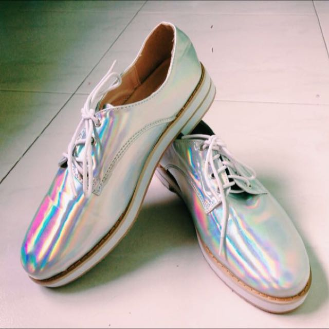 best loved a8306 a3e3e Holographic MJ Platform Shoes, Women s Fashion, Shoes on Carousell